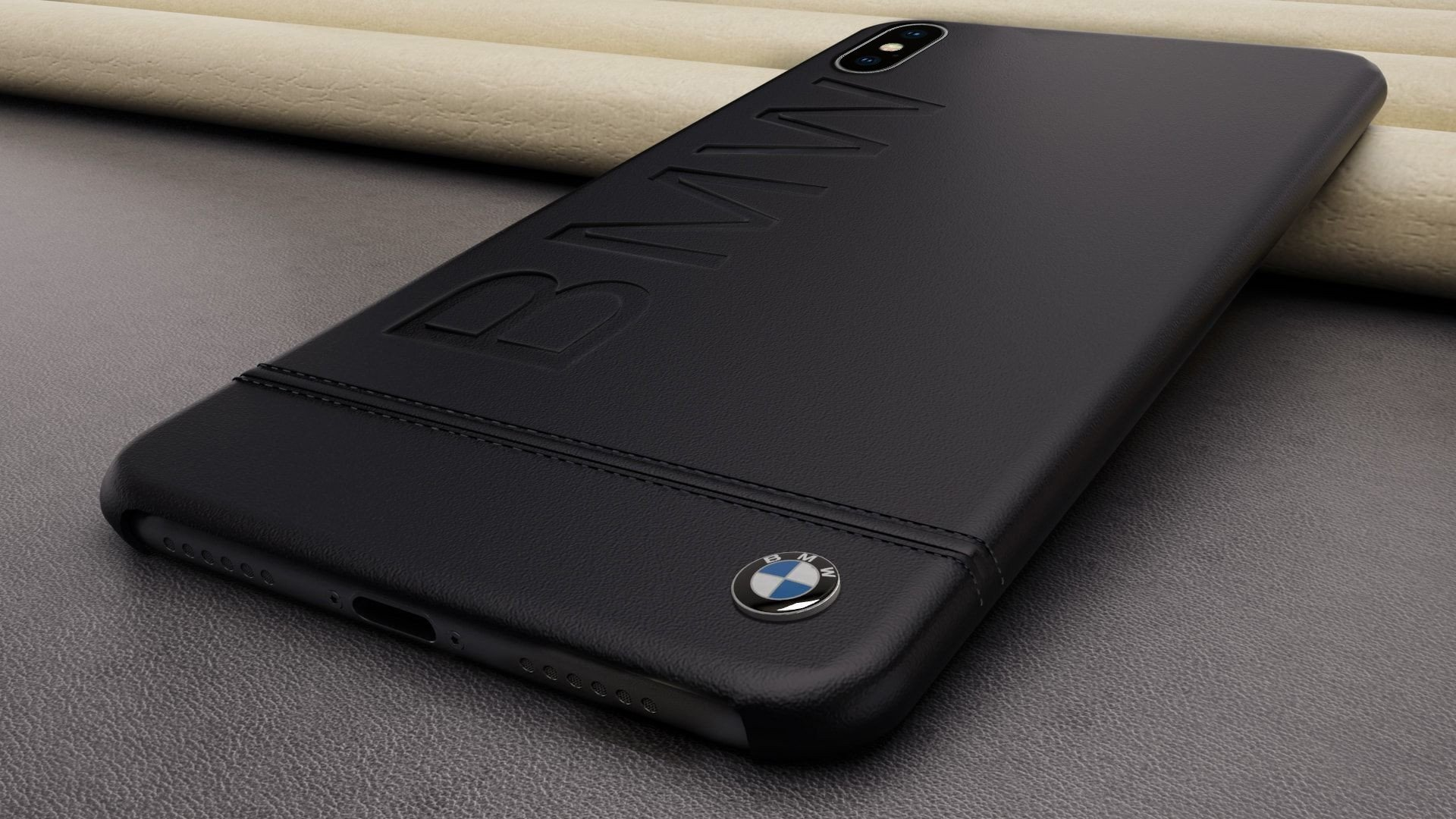 huge selection of aefde b55b0 BMW ® Apple iPhone XS Max Official Racing Leather Case Limited Edition Back  Cover