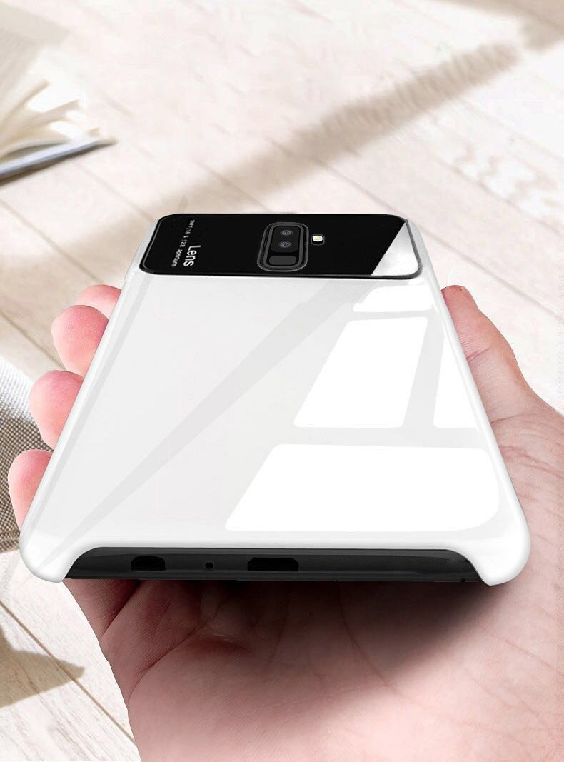 new concept 517a0 e08ea Vaku ® Samsung Galaxy A6 Plus Polarized Glass Glossy Edition PC 4 Frames +  Ultra-Thin Case Back Cover