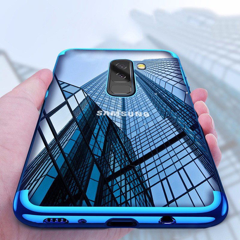 newest collection 80efe fc633 Vaku ® Samsung Galaxy A6 Plus CAUSEWAY Series Electroplated Shine Bumper  Finish Full-View Display + Ultra-thin Transparent Back Cover