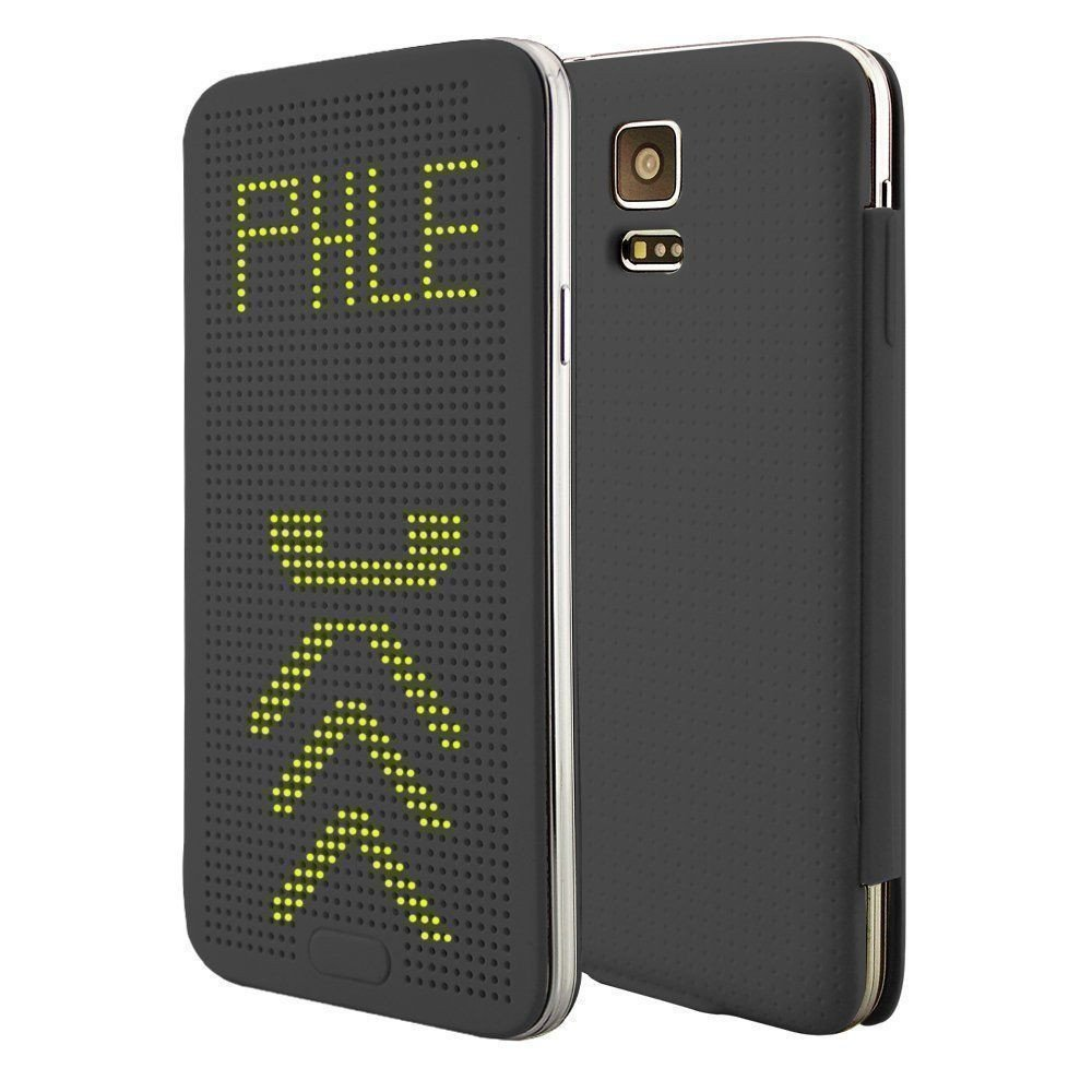 newest collection a8356 7ff8e DotView ™ Samsung Galaxy S5 / G900 Dot View LED Case Flip Cover