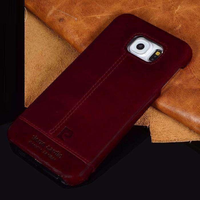 buy online 84b82 82fae Pierre Cardin ® Samsung Galaxy S6 / S6 Edge / S6 Edge Plus Paris Design  Premium Leather Case Back Cover