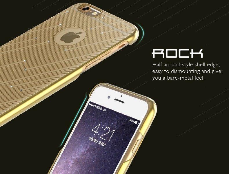new arrival edd7f 300b1 Rock ® Apple iPhone 6 Plus / 6S Plus Meteor Series Ultra-thin Swarovski  Diamond Bezel Dazzling Electroplating Protective Case Back Cover