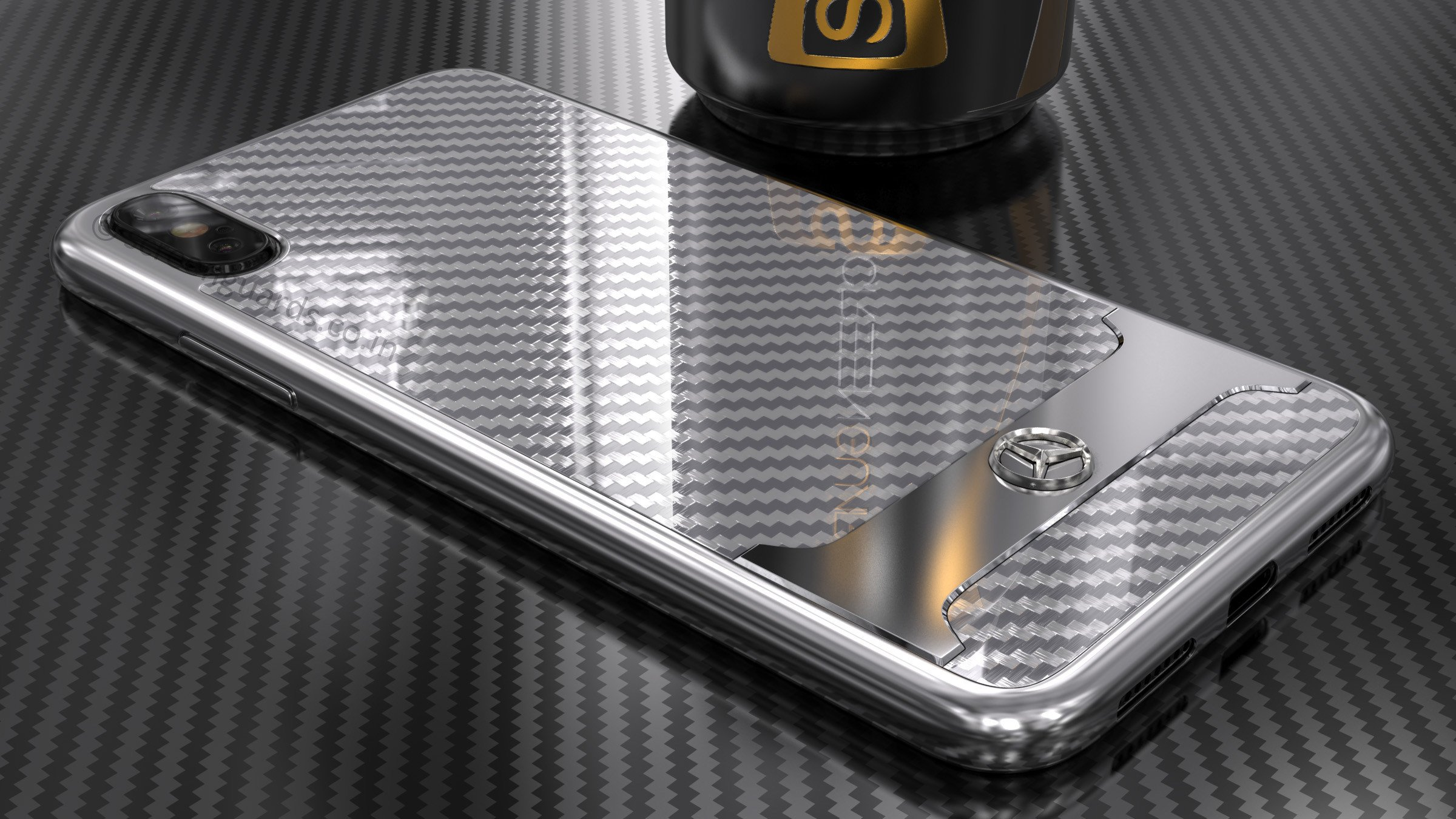 online store 3db59 ff6e1 Mercedes Benz ® Apple iPhone XS SLR McLaren Carbon Fibre (Limited Edition)  Electroplated Metal Hard Case Back Cover
