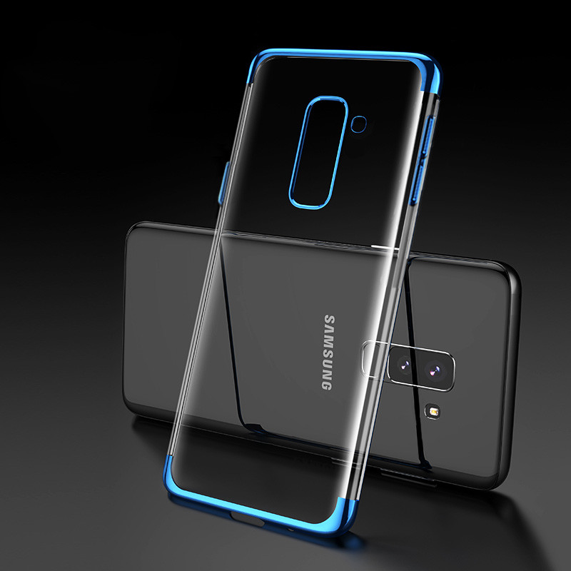 newest collection 4691e 3ac45 Vaku ® Samsung Galaxy A6 Plus CAUSEWAY Series Electroplated Shine Bumper  Finish Full-View Display + Ultra-thin Transparent Back Cover