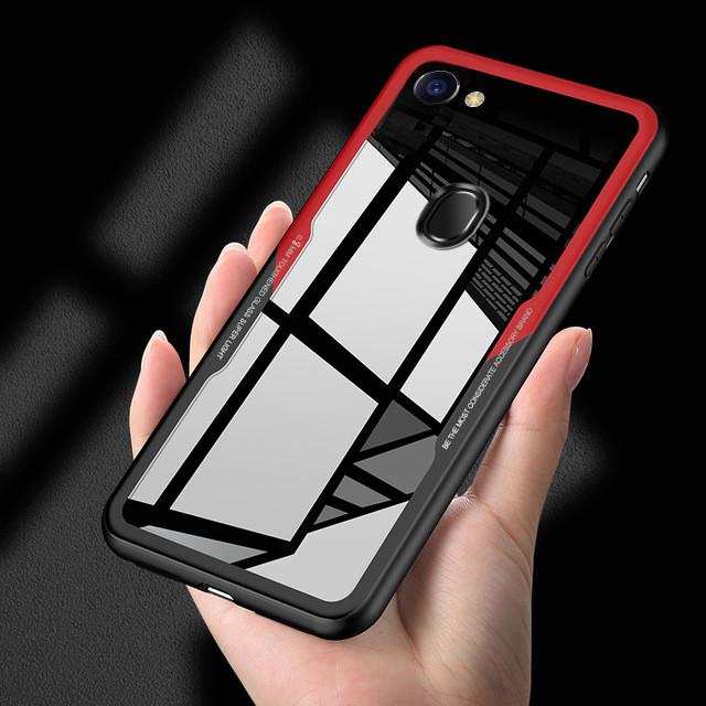 competitive price f7e44 1253b Vaku ® Oppo F7 GLASSINO Luxurious Edition Ultra-Shine Silicone Frame  Ultra-Thin Case Transparent Back Cover