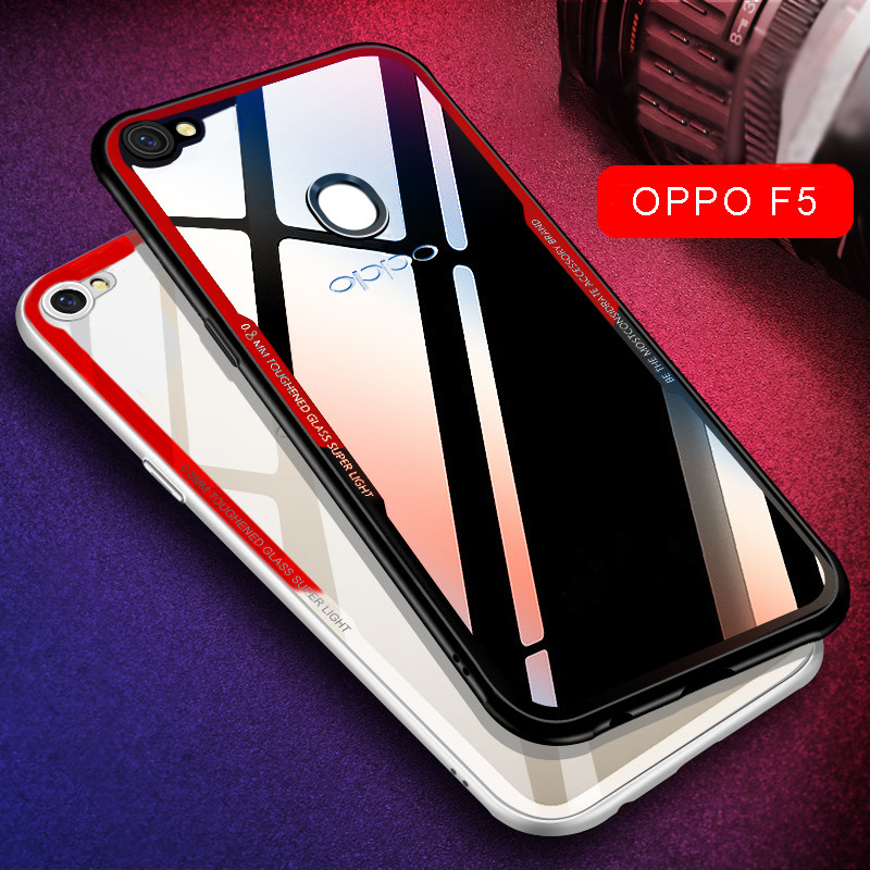 competitive price 41020 a8bd9 Vaku ® Oppo F7 GLASSINO Luxurious Edition Ultra-Shine Silicone Frame  Ultra-Thin Case Transparent Back Cover