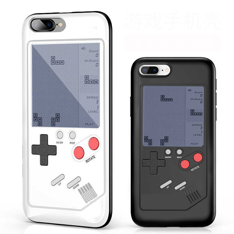 new arrival 637a0 99262 Vaku ® Apple iPhone 7 Plus Retro Video Gaming Console 26 in 1 Games Like  Tetris, Shooting, Racing, Tank, Memory etc. + Drop-Protection Back Cover