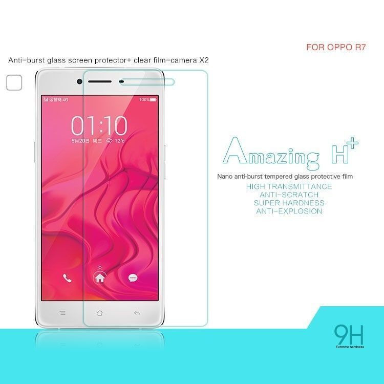 Dr  Vaku ® Oppo R7 Ultra-thin 0 2mm 2 5D Curved Edge Tempered Glass Screen  Protector Transparent
