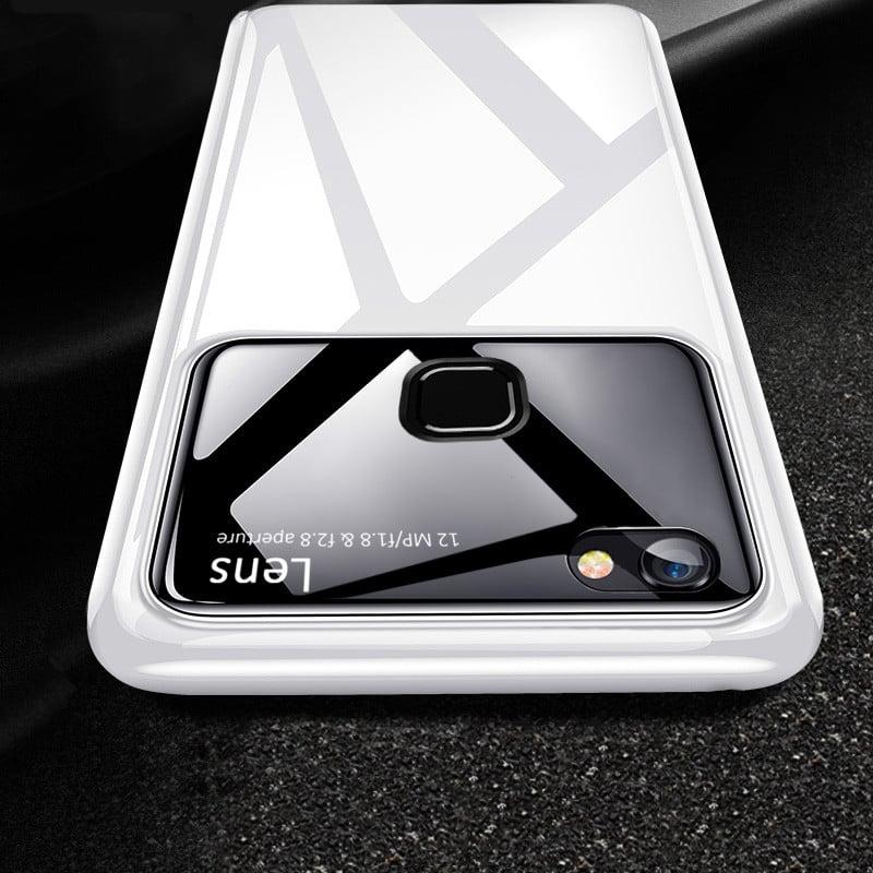 reputable site 6a11e acf98 Vaku ® Vivo Y83 Polarized Glass Glossy Edition PC 4 Frames + Ultra-Thin  Case Back Cover