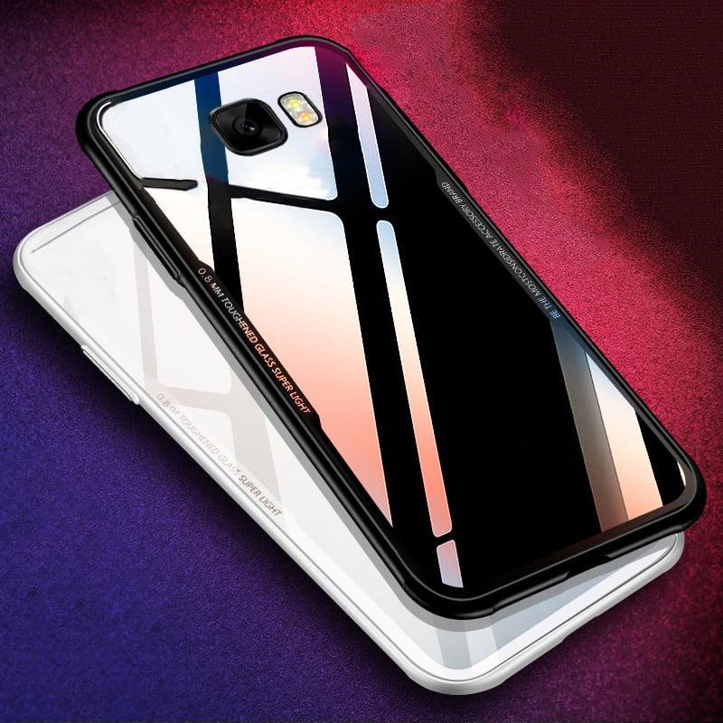reputable site 4bab1 45c55 Vaku ® Samsung Galaxy C7 Pro GLASSINO Luxurious Edition Ultra-Shine  Silicone Frame Ultra-Thin Case Transparent Back Cover