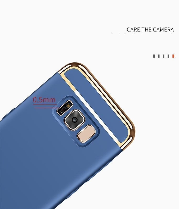 vaku samsung galaxy s8 plus ling series ultra thin metal electroplating splicing pc back cover. Black Bedroom Furniture Sets. Home Design Ideas