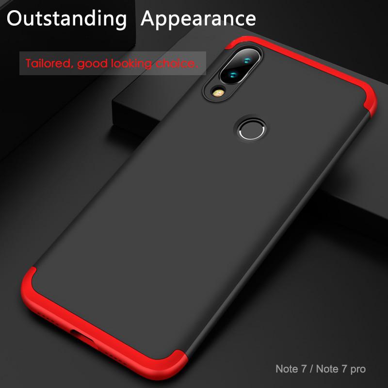 2cc14c0478f GKK ® Xiaomi Redmi Note 7   Note 7 Pro 3-in-1 360 Series PC Case  Dual-Colour Finish Ultra-thin Slim Front Case + Back Cover