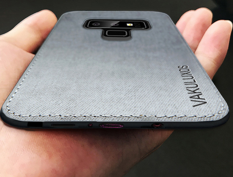 timeless design d0b4b ba75a Vaku ® Samsung Galaxy Note 9 Luxico Series Hand-Stitched Cotton Textile  Ultra Soft-Feel Shock-proof Water-proof Back Cover