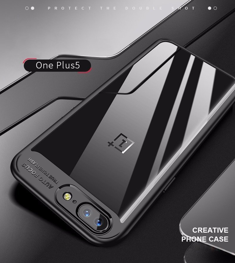 quality design eb736 c9c52 Vaku ® OnePlus 5T Kowloon Series Top Quality Soft Silicone 4 Frames +  Ultra-Thin Transparent Back Cover