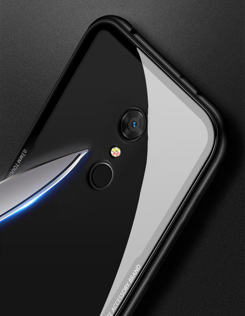 54aecd37deb Vaku ® Xiaomi Redmi 5 GLASSINO Luxurious Edition Ultra-Shine Silicone Frame  Ultra-Thin Case Transparent Back Cover
