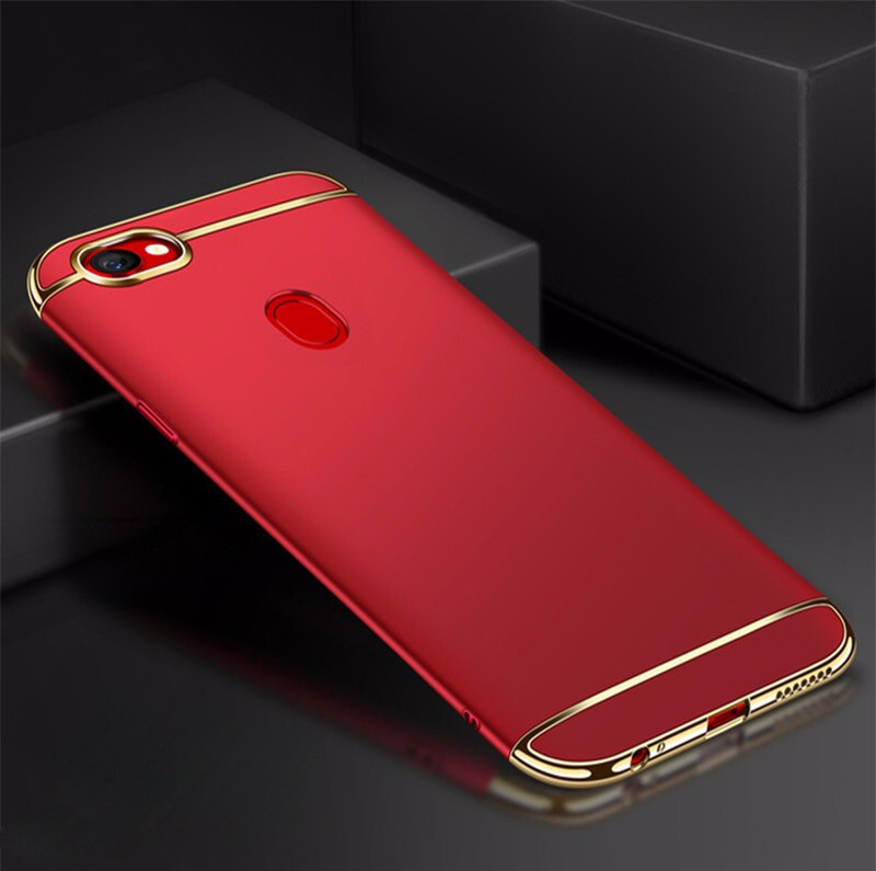 brand new 5f7cf b1fcf Vaku ® Oppo F5 Youth Ling Series Ultra-thin Metal Electroplating Splicing  PC Back Cover
