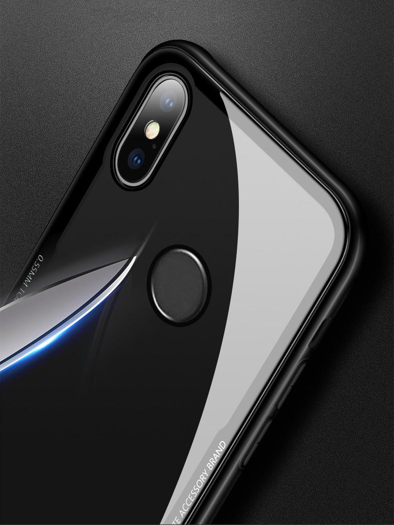 wholesale dealer 11f86 2c002 Vaku ® Xiaomi Redmi Note 5 Pro GLASSINO Luxurious Edition Ultra-Shine  Silicone Frame Ultra-Thin Case Transparent Back Cover