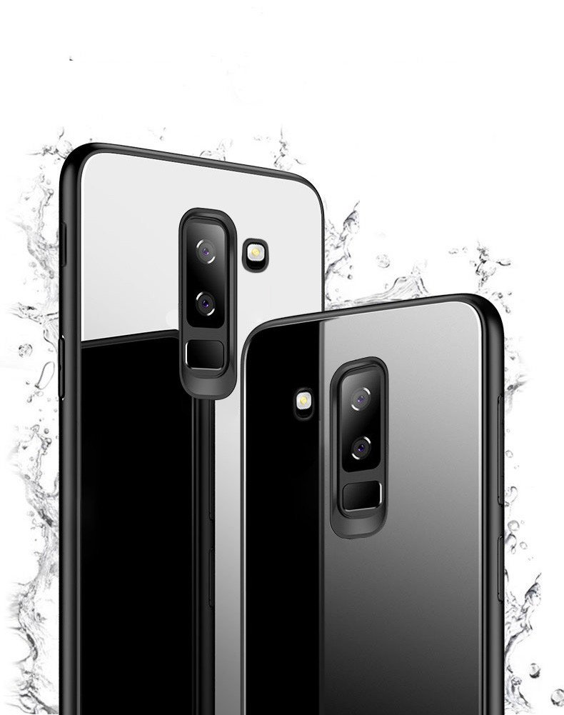 new style 1e1be 6a6a9 Vaku ® Samsung Galaxy A6 Plus Club Series Ultra-Shine Luxurious Tempered  Finish Silicone Frame Thin Back Cover