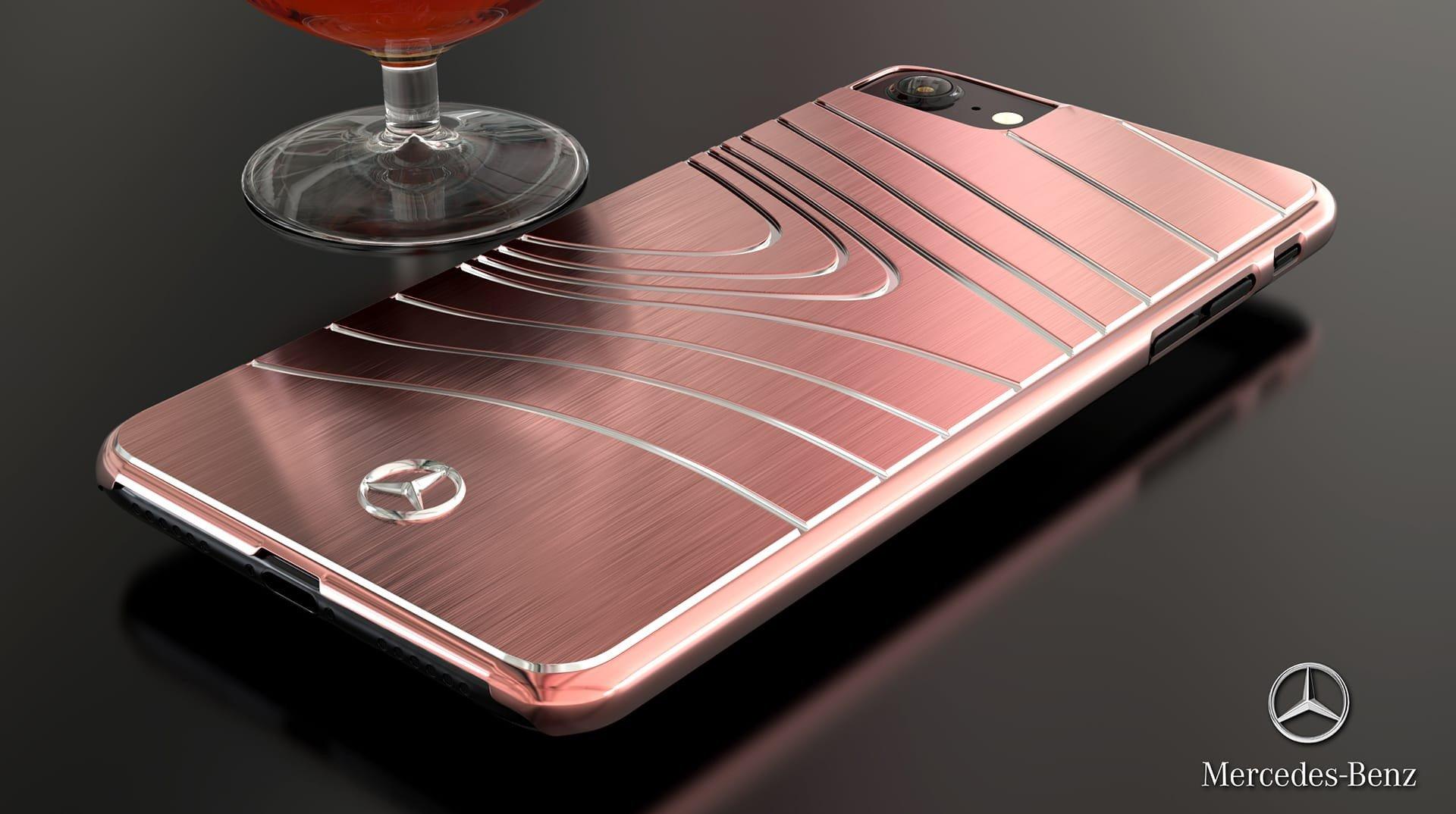 super popular b89cc 7c0ca Mercedes Benz ® Apple iPhone 7 Plus SLS AMG Series Electroplated Metal Drop  Line Technology Case Back Cover