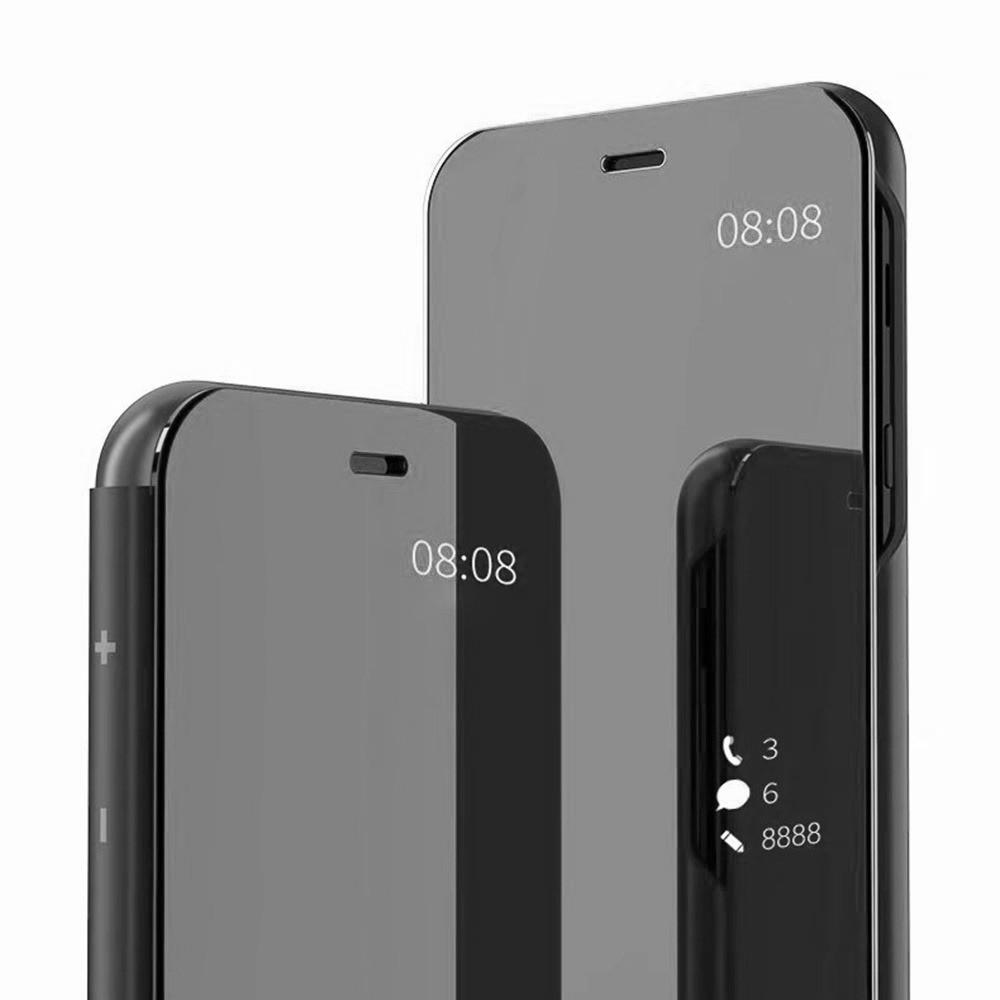 watch 9a0f8 69f7e Vaku ® OnePlus 6T Mate Smart Awakening Mirror Folio Metal Electroplated PC  Flip Cover