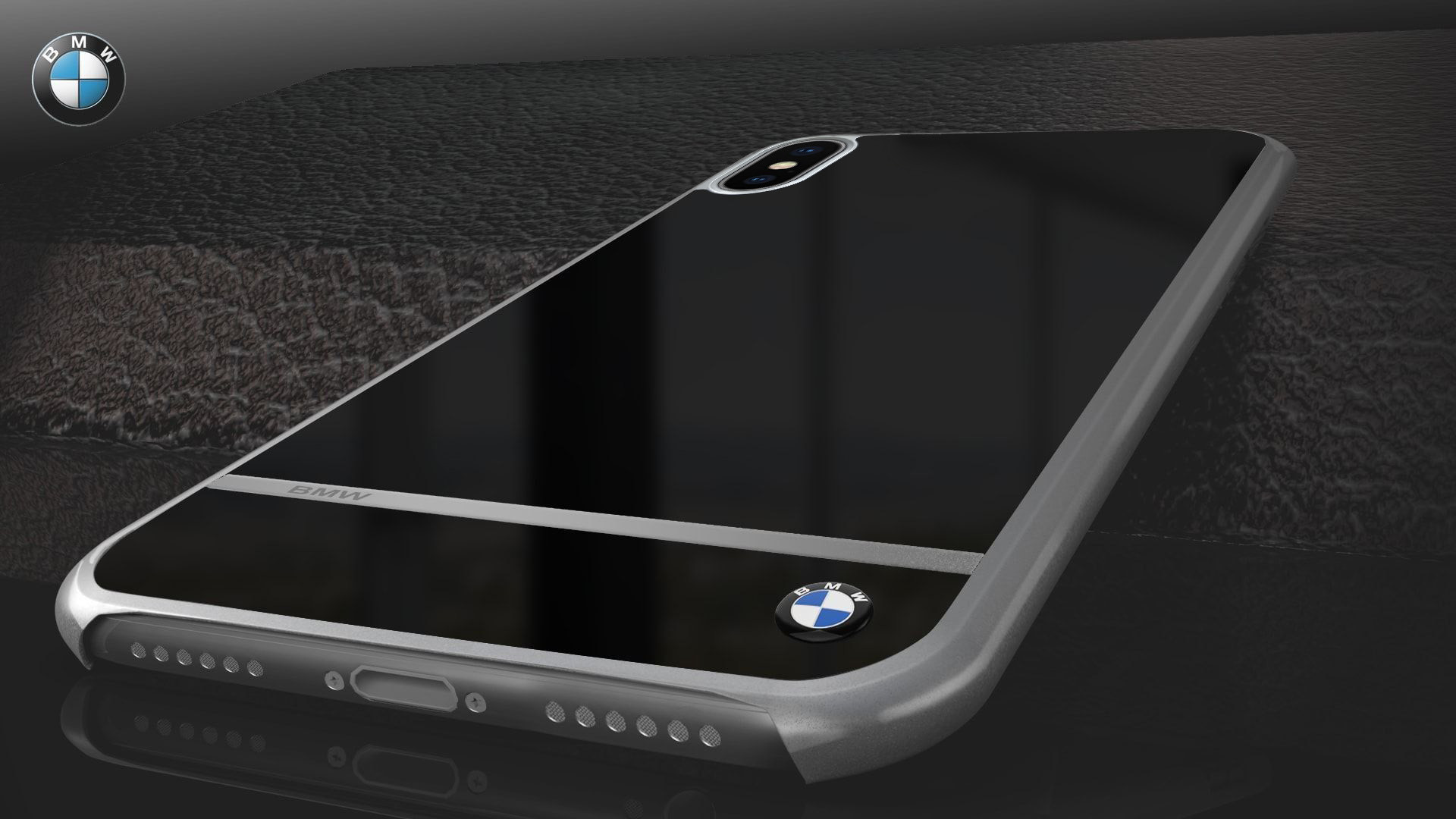 Bmw 174 Apple Iphone X Mirror Signature Shine Electroplated