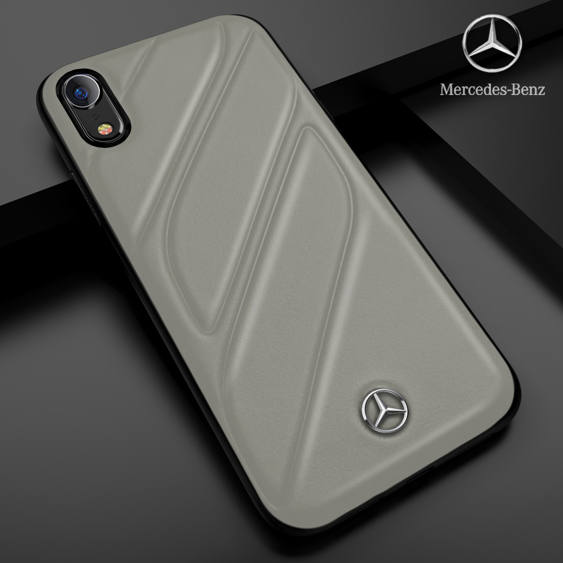 Mercedes Benz Iphone Xr Cla Class Raven Leather Back Cover