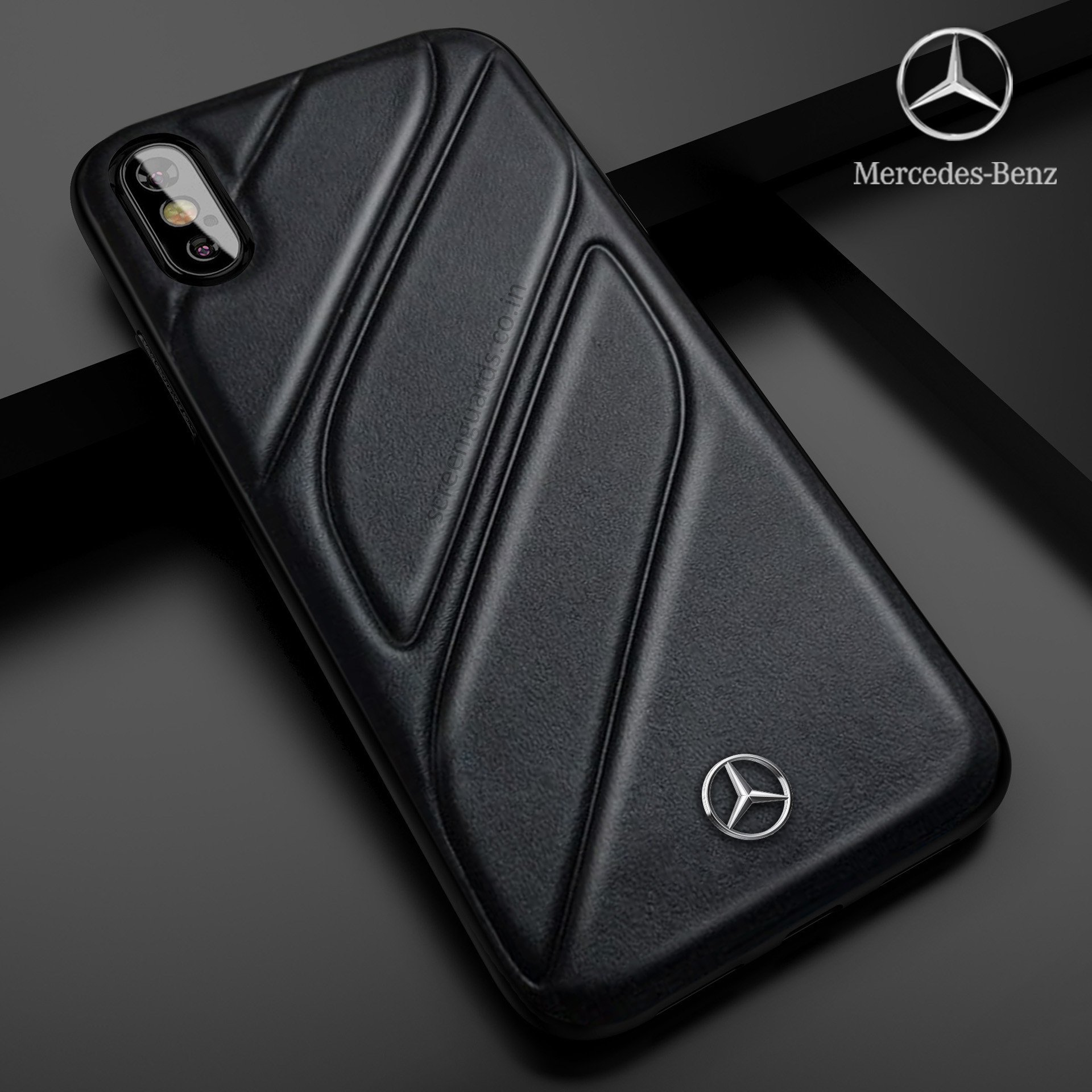 size 40 cd75c a5e39 Mercedes Benz ® iPhone XS Max CLA-CLASS Raven leather Back Cover