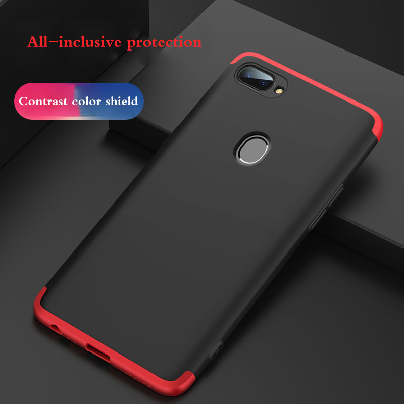 lowest price cb9d9 80b03 GKK ® Oppo A5 3-in-1 360 Series PC Case Dual-Colour Finish Ultra-thin Slim  Front Case + Back Cover
