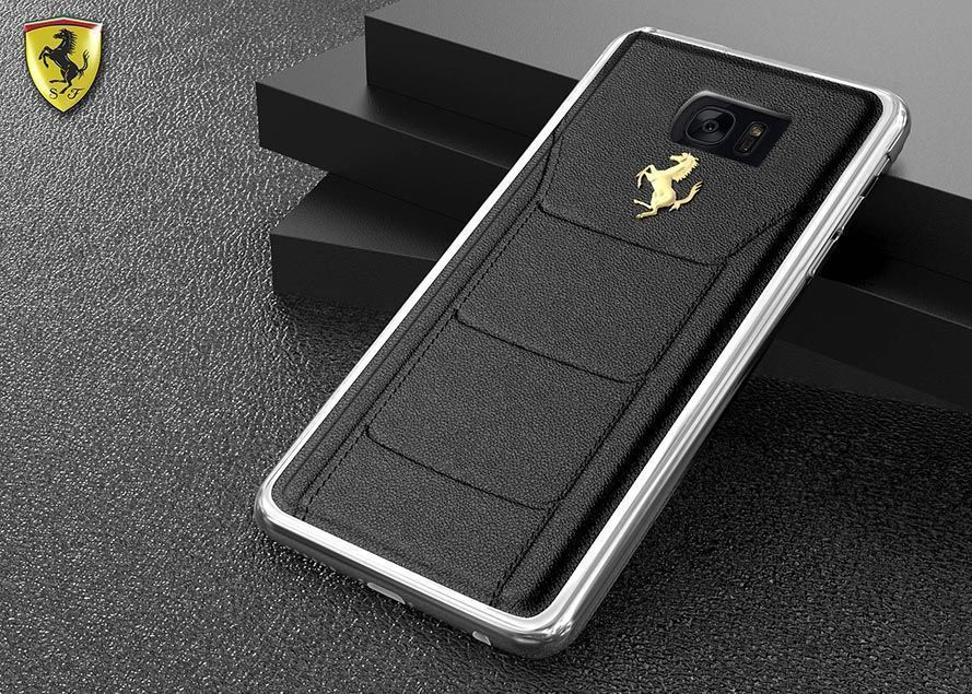 8bfbbf26e Ferrari ® Samsung S7 Edge Official 599 GTB Logo Double Stitched  Dual-Material Pure Leather