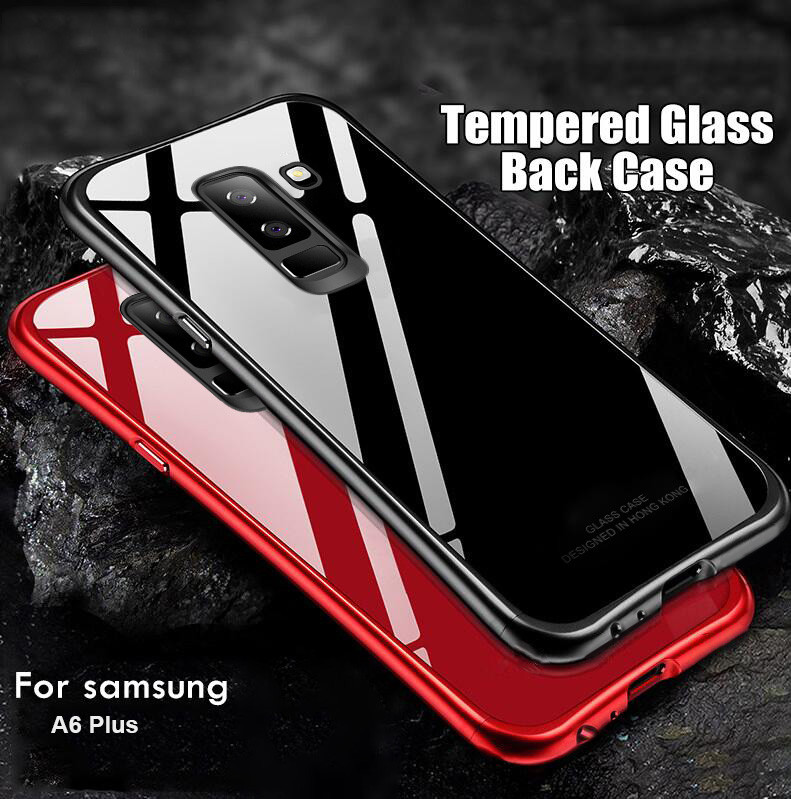 new style f0024 5ffe9 Vaku ® Samsung Galaxy A6 Plus Club Series Ultra-Shine Luxurious Tempered  Finish Silicone Frame Thin Back Cover