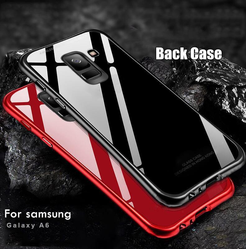purchase cheap ba09a 46ec2 Vaku ® Samsung Galaxy J6 Club Series Ultra-Shine Luxurious Tempered Finish  Silicone Frame Thin Back Cover