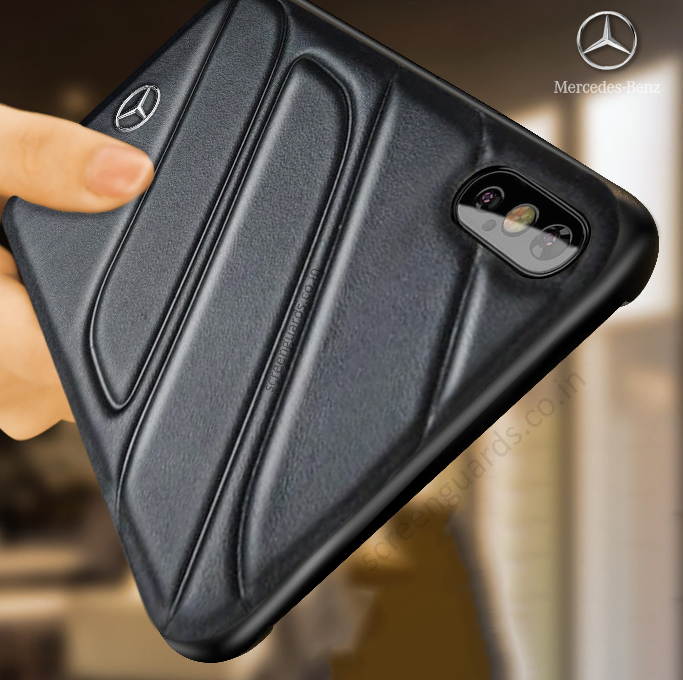 size 40 bc814 cefeb Mercedes Benz ® iPhone XS Max CLA-CLASS Raven leather Back Cover