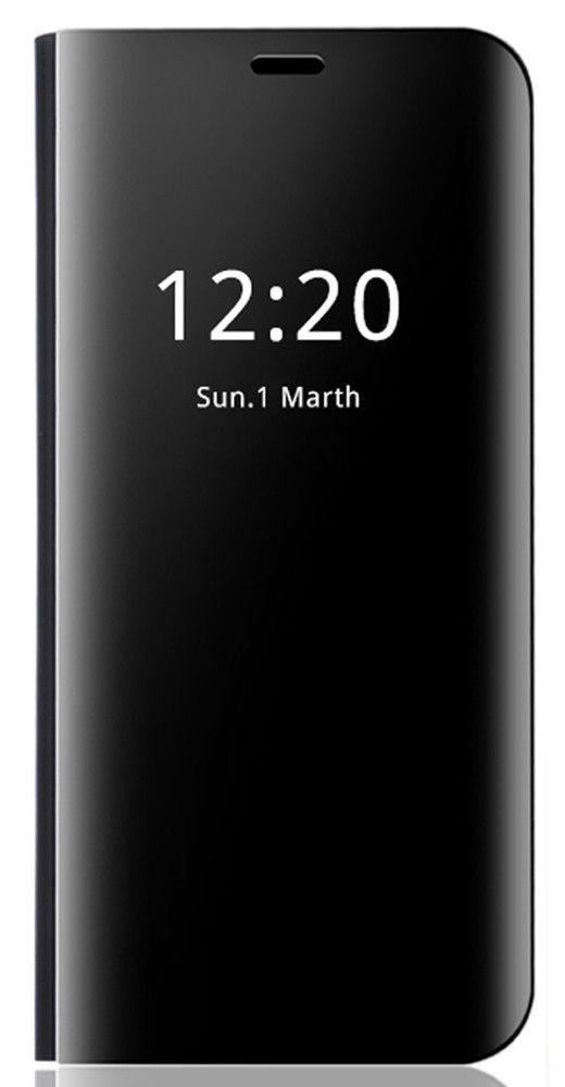 on sale 81e40 f9b66 Vaku ® Oppo A3s Mate Smart Awakening Mirror Folio Metal Electroplated PC  Flip Cover