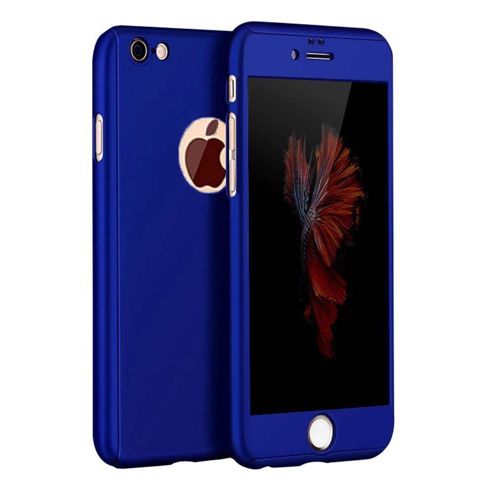 reputable site b36b4 d984a Moste ® Apple iPhone 6 / 6S 5D ETOLICA Electroplating Front Case + Tempered  Glass + Back Cover