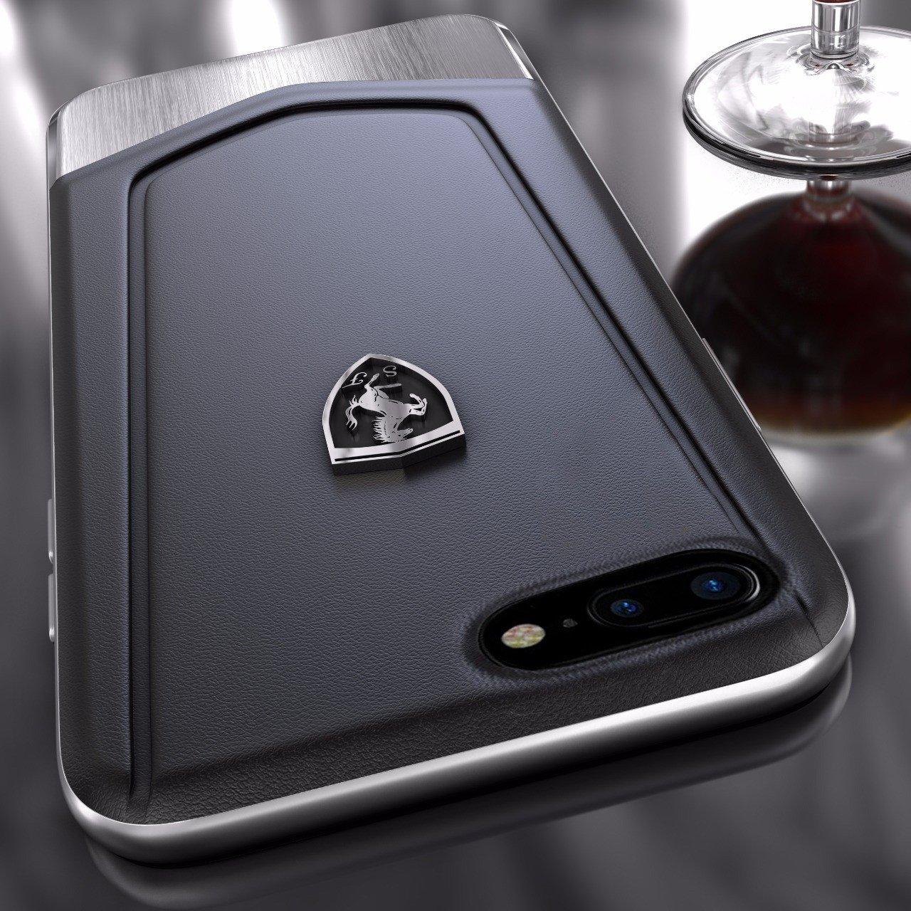 ffc4ef834 Ferrari ® Apple iPhone 7 Plus Moranello Series Luxurious Leather + Metal  Case Limited Edition Back