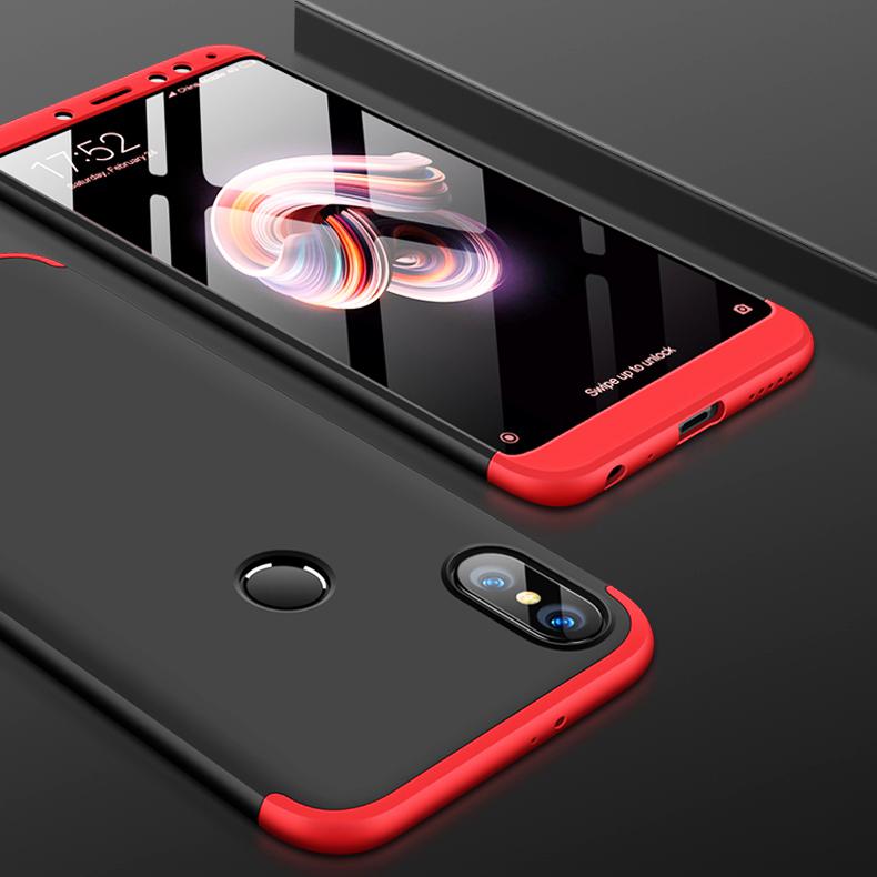 watch 64887 d7dbe FCK ® Xiaomi Redmi Note 5 Pro 5-in-1 360 Series PC Case Dual-Colour Finish  Ultra-thin Slim Front Case + Back Cover