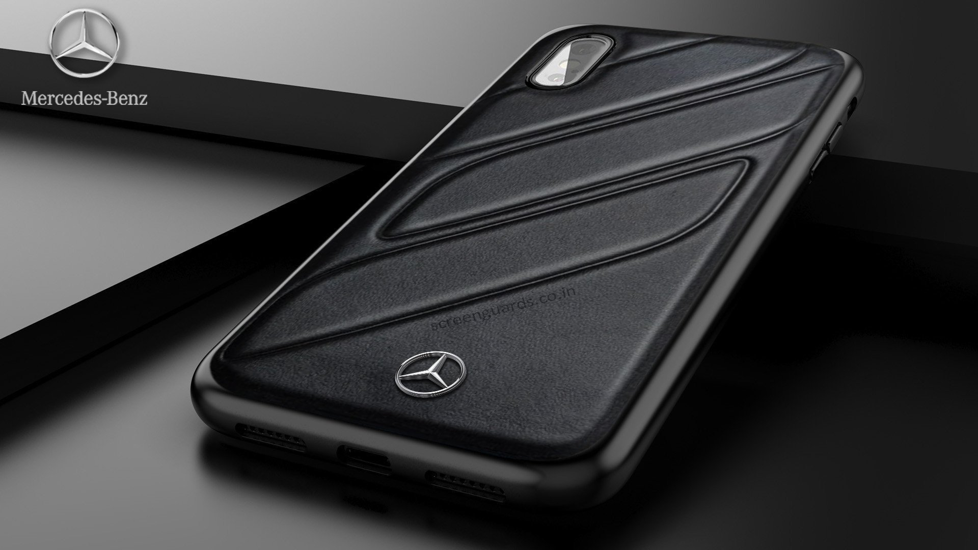Mercedes Benz Iphone Xs Max Cla Class Raven Leather Back Cover