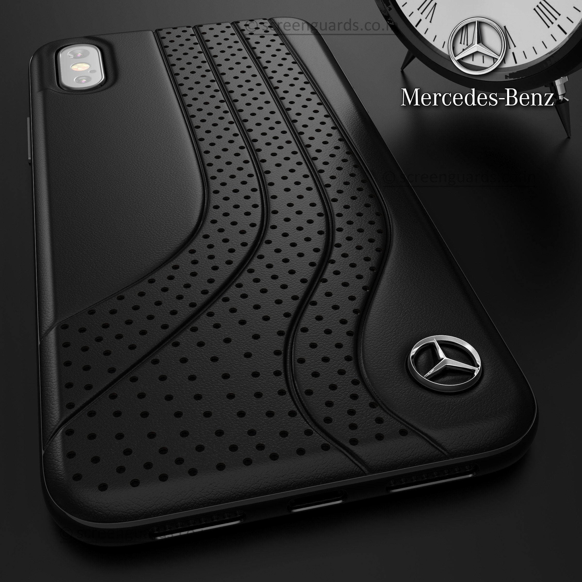 super popular 2df33 51740 Mercedes Benz ® iPhone X Dotted Wave Series Luxury Edition Back Cover
