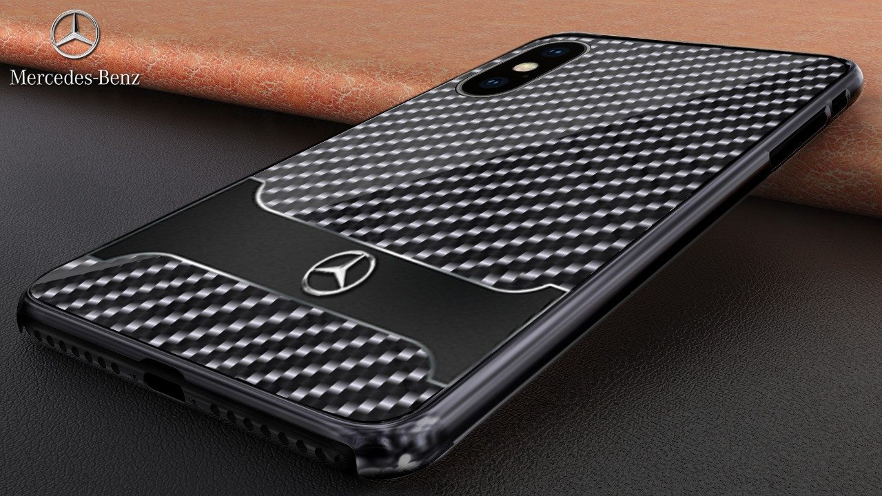 sports shoes 6669f b2abe Mercedes Benz ® Apple iPhone X SLR McLaren Carbon Fibre (Limited Edition)  Electroplated Metal Hard Case Back Cover