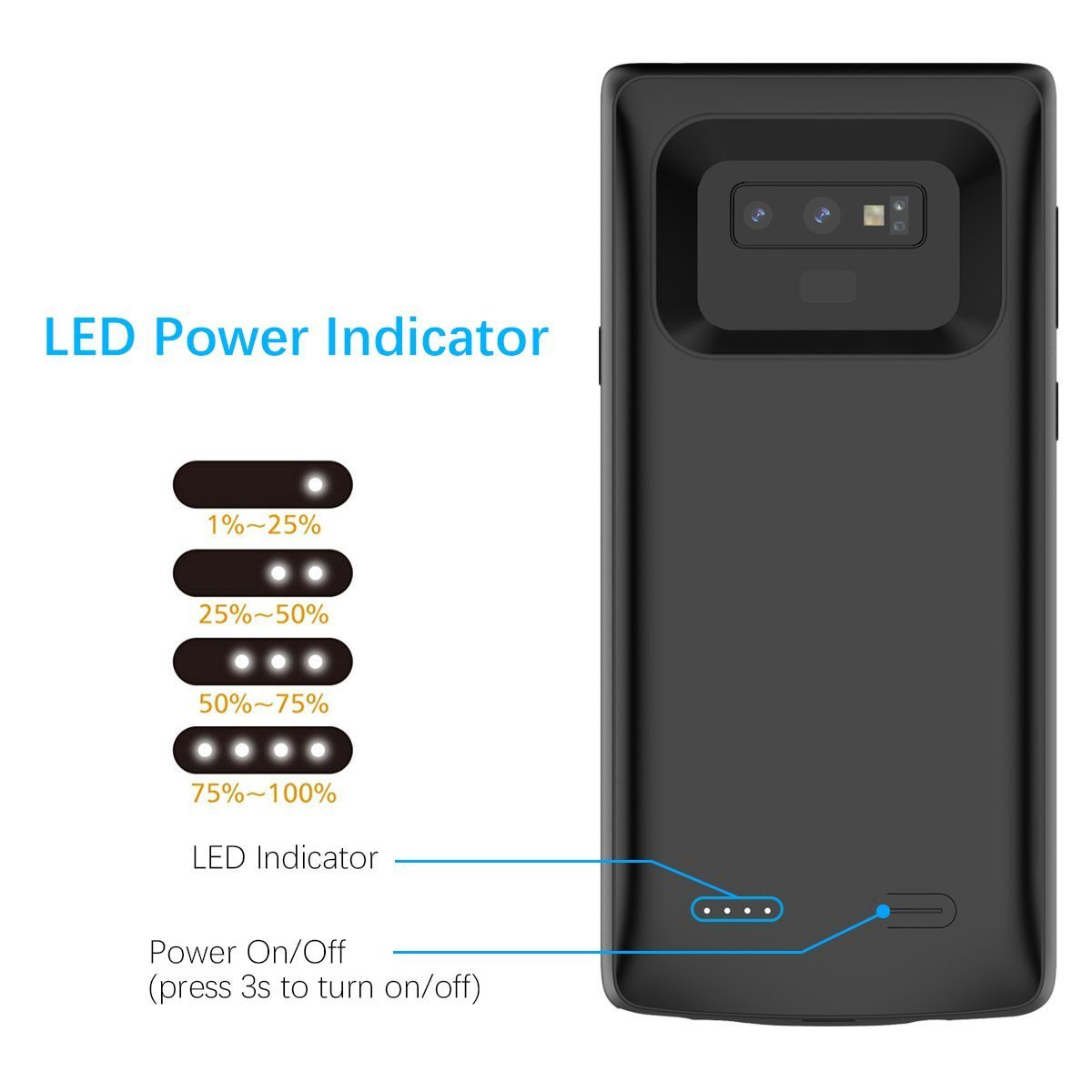 reputable site d529b 89046 G- CASE ® Samsung Galaxy Note 9 Rechargeable 5000 mAh Lightweight Portable  Powerbank Back cover