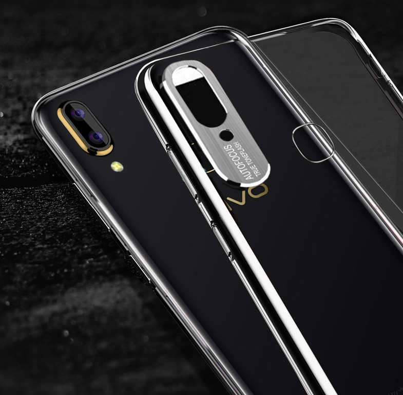 the latest 4d311 dce45 Vaku ® Vivo Y85 Metal Camera Ultra-Clear Transparent View with Anodized  Aluminium Finish Back Cover