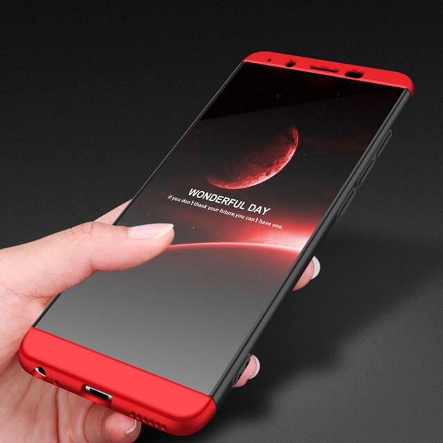 innovative design 27cfb 2c9a9 FCK ® Vivo V7 5 IN 1 360 Series PC Case Dual-Colour Finish 3-in-1  Ultra-thin Slim Front Case + Back Cover