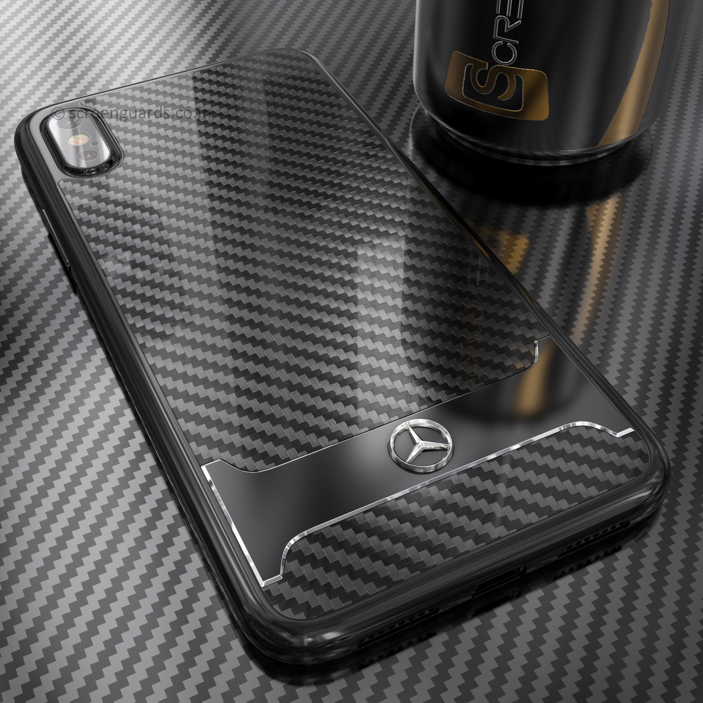 online store b3cf4 62ca6 Mercedes Benz ® Apple iPhone XS SLR McLaren Carbon Fibre (Limited Edition)  Electroplated Metal Hard Case Back Cover