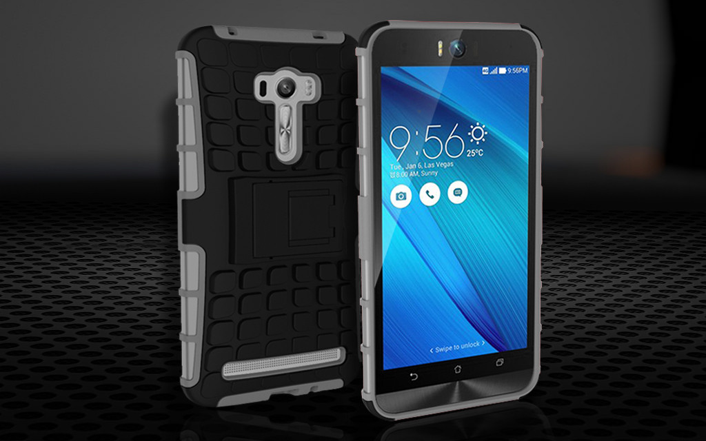 the best attitude 498c5 1755d Vaku ® Asus Zenfone Selfie Kick Stand Armor Hybrid Case Bumper Back Cover