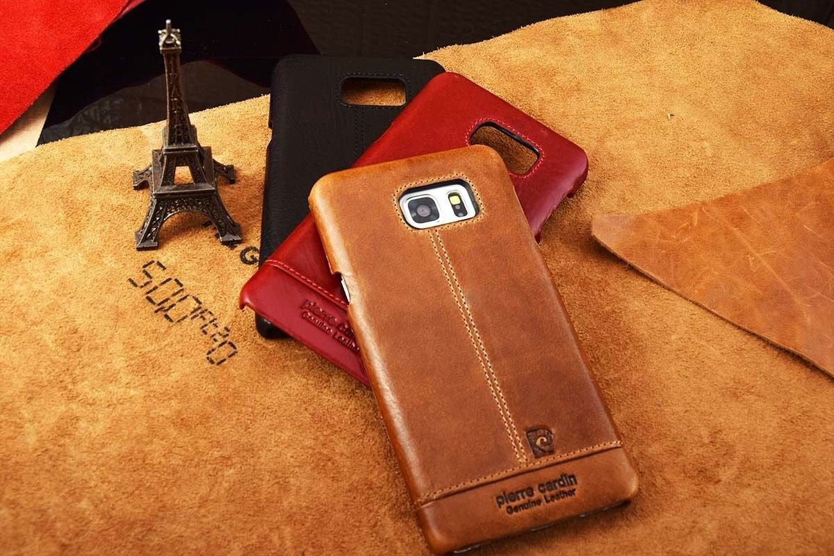size 40 ef060 639f8 Pierre Cardin ® Samsung Galaxy Note 5 Paris Design Premium Leather Case  Back Cover