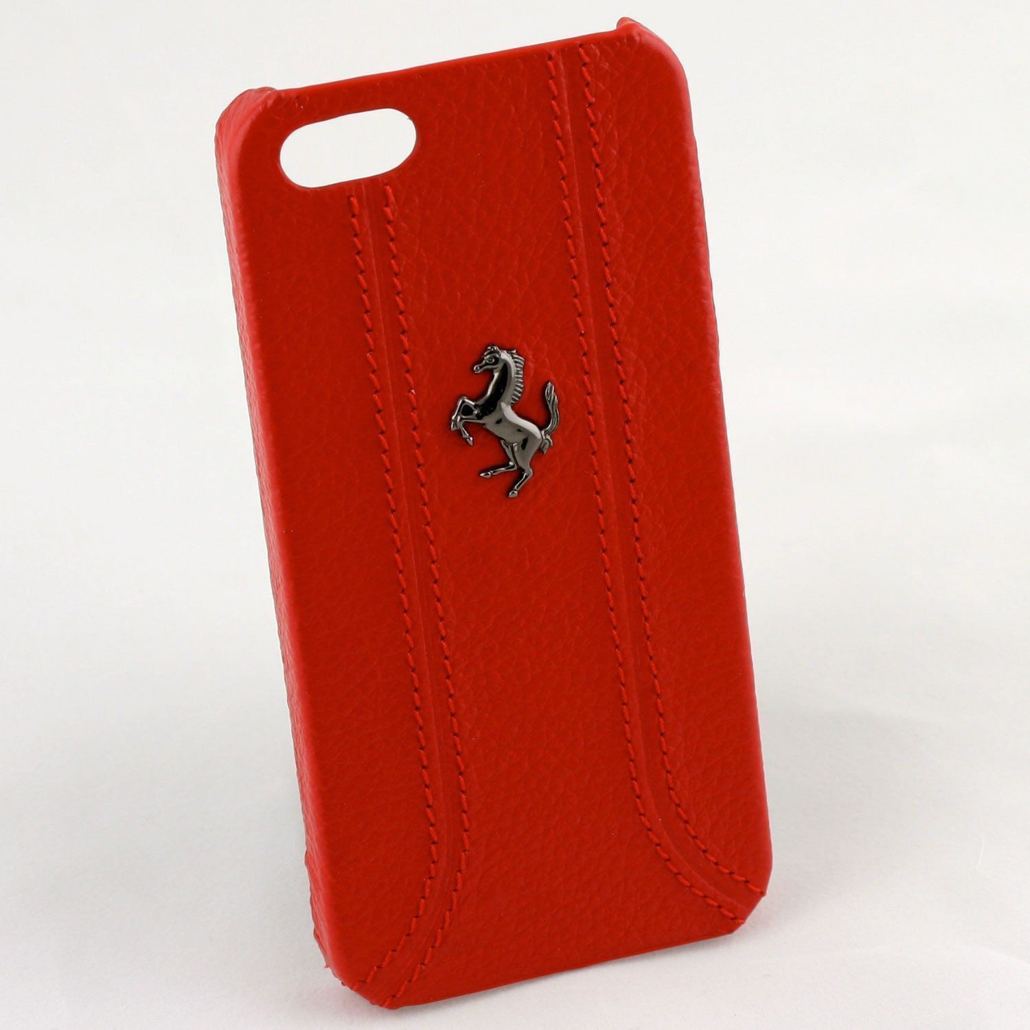 Ferrari apple iphone 5 5s se official hand stitched premium leather case back cover - Iphone 5s leather case ...