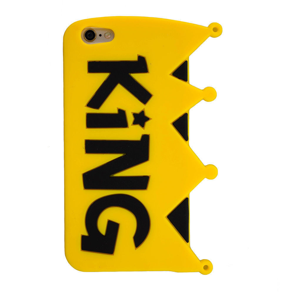 lowest price 4f107 0fd9c Cute Cases ™ Apple iPhone 7 Cute King Design Ultra-Soft Gel Silicon Case  Back Cover yellow