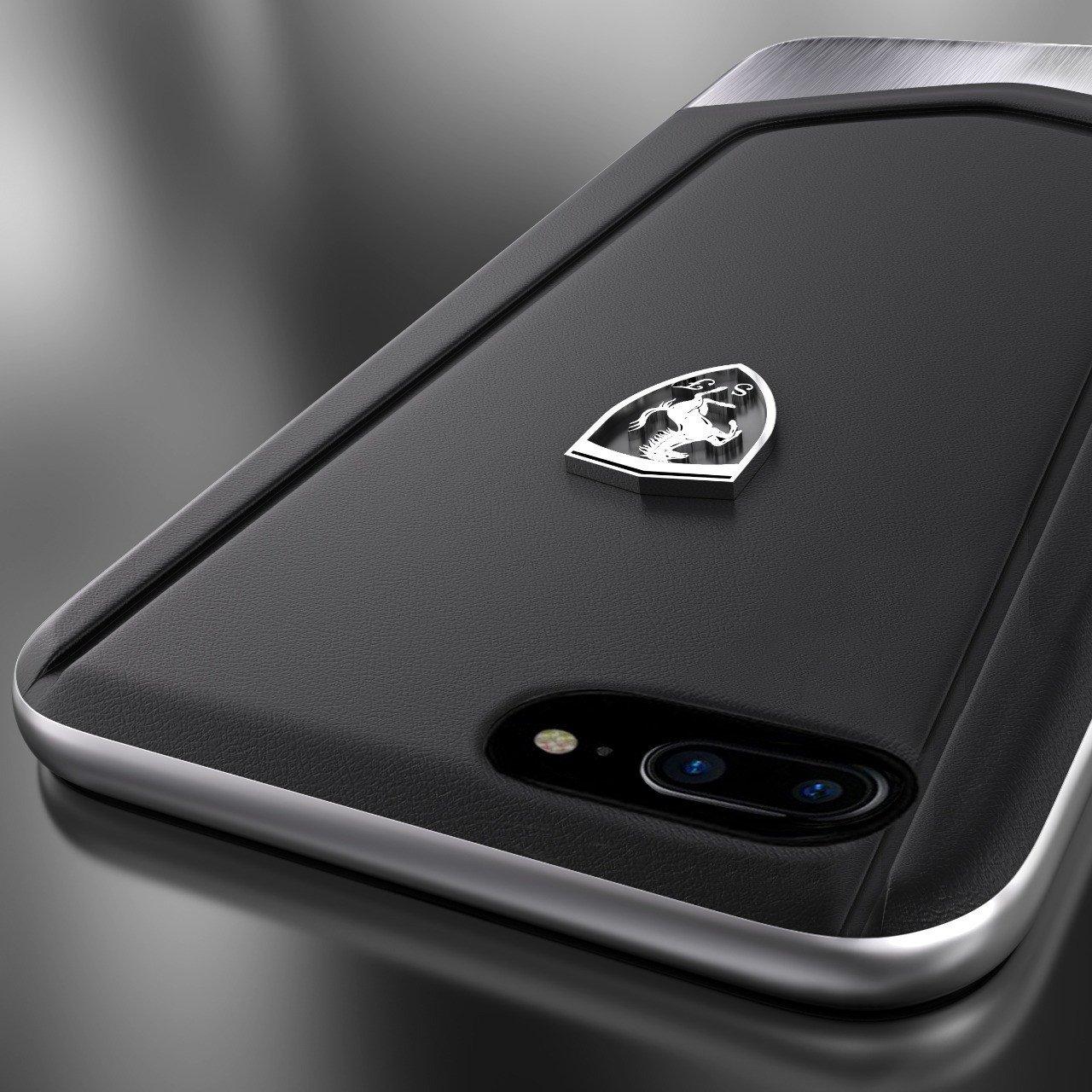 super popular f3fc7 441d4 Ferrari ® Apple iPhone 8 Plus Moranello Series Luxurious Leather + Metal  Case Limited Edition Back Cover