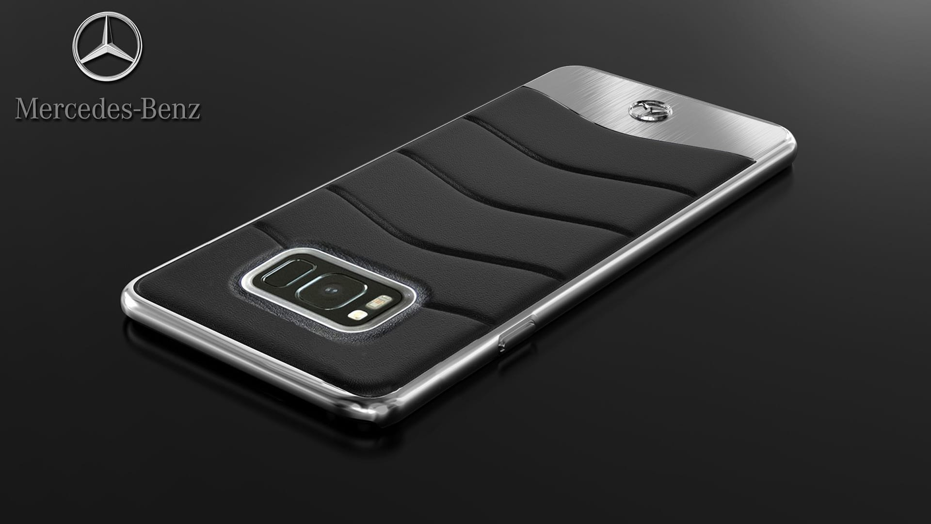 Mercedes Benz ® Samsung Galaxy S8 Plus Concept S Coupe Series Electroplated Metal + Leather Hard