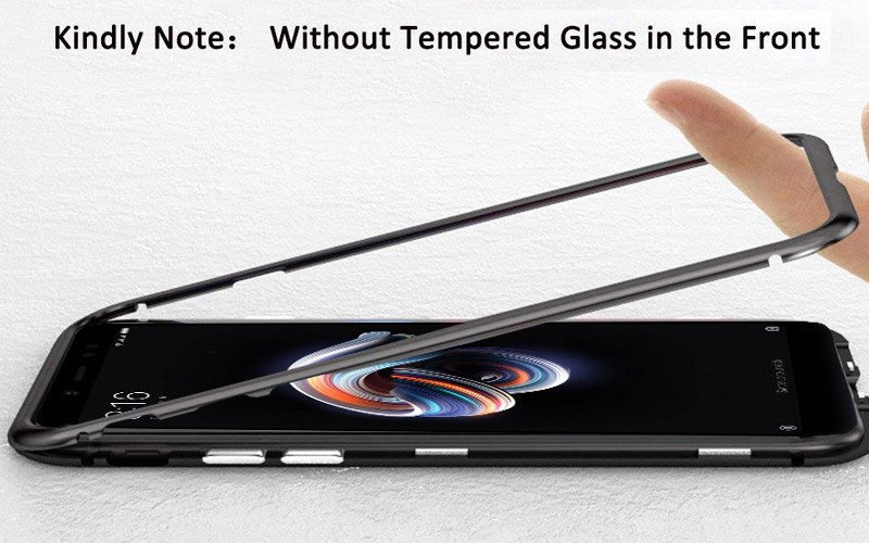 low priced 69969 d6b2f Vaku ® Xiaomi Redmi Note 5 Pro Electronic Auto-Fit Magnetic Wireless  Edition Aluminium Ultra-Thin CLUB Series Back Cover